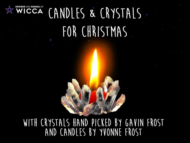 Wicca Christmas.Candles Crystals For Christmas