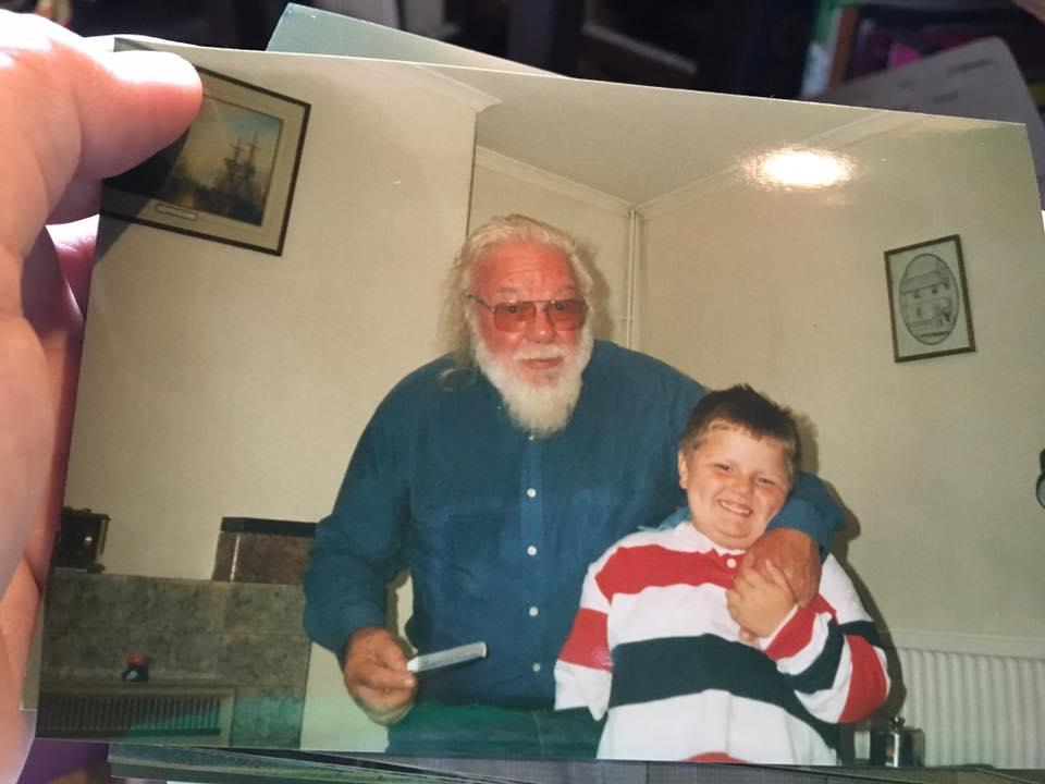 Gavin with Grandson